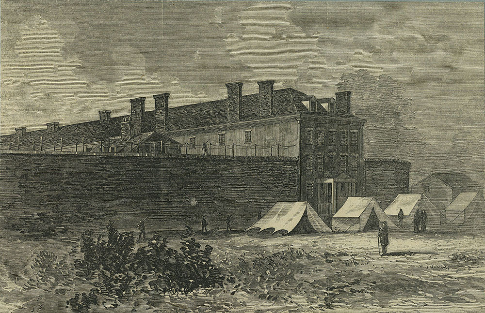 Penitentiary Building at Washington, in which the Conspiritors are Confined and Undergoing Trial.