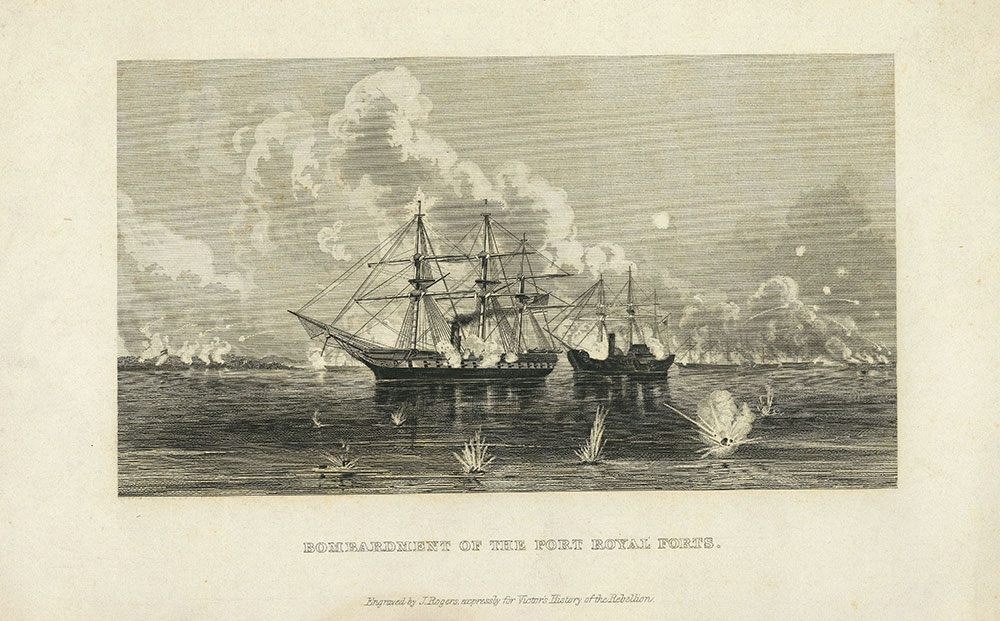 Bombardment of the Port Royal Forts.