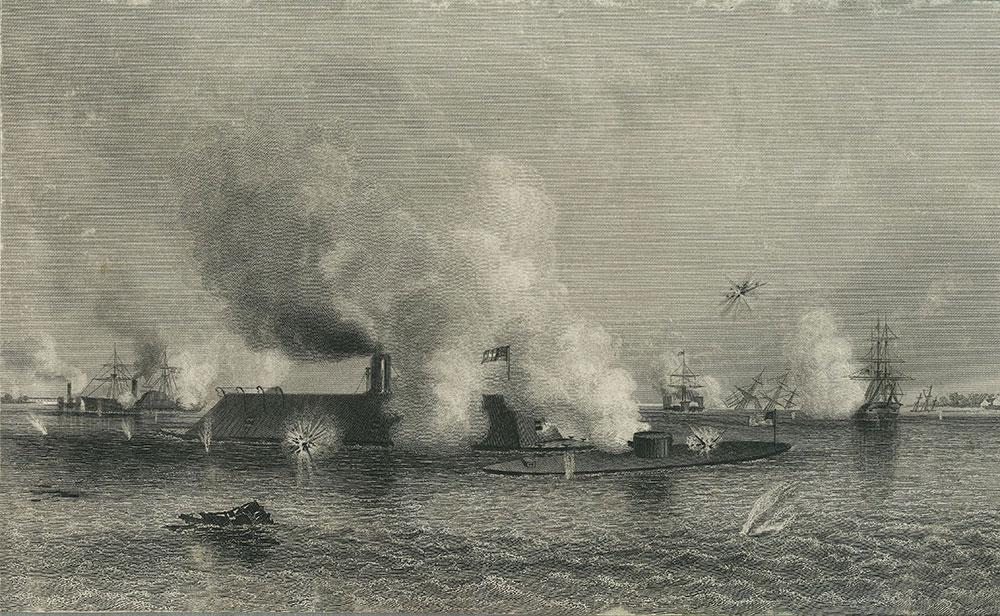 Naval Engagement in Hampton Roads.