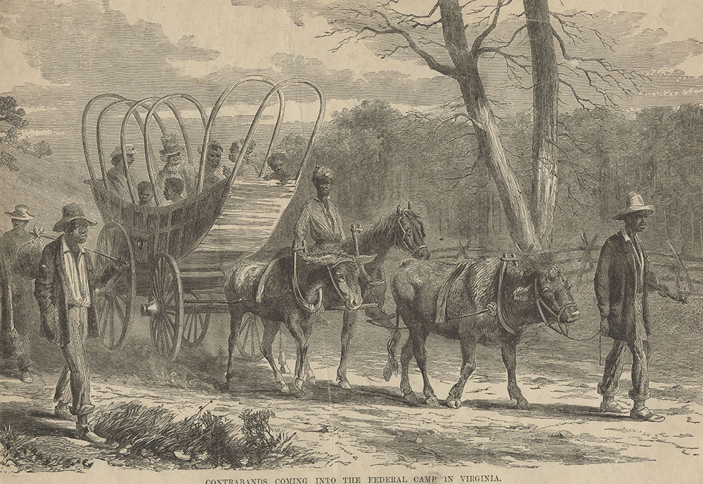 Contrabands coming into the Federal camp of Virginia