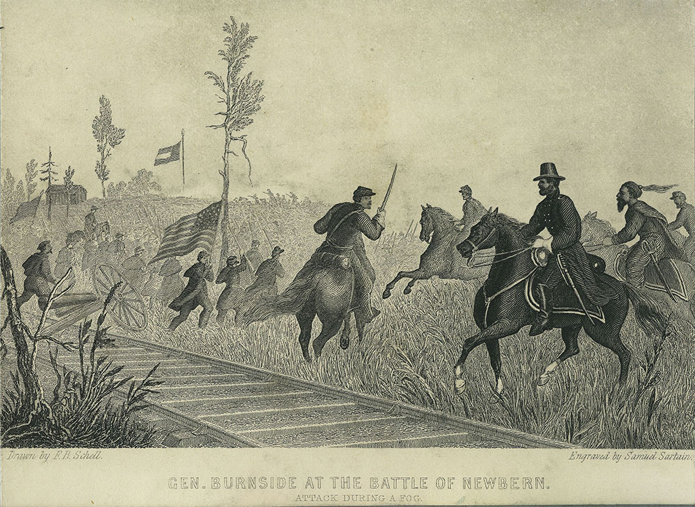 General Burnside at the Battle of Newbern