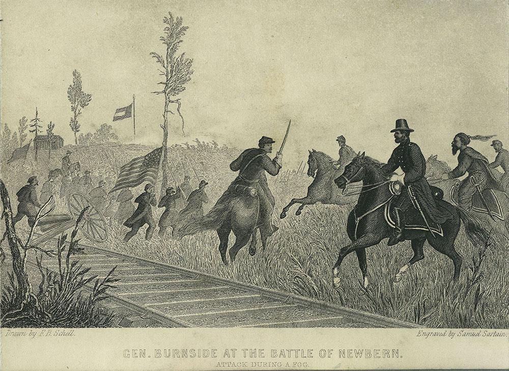 General Burnside at the Battle of Newbern