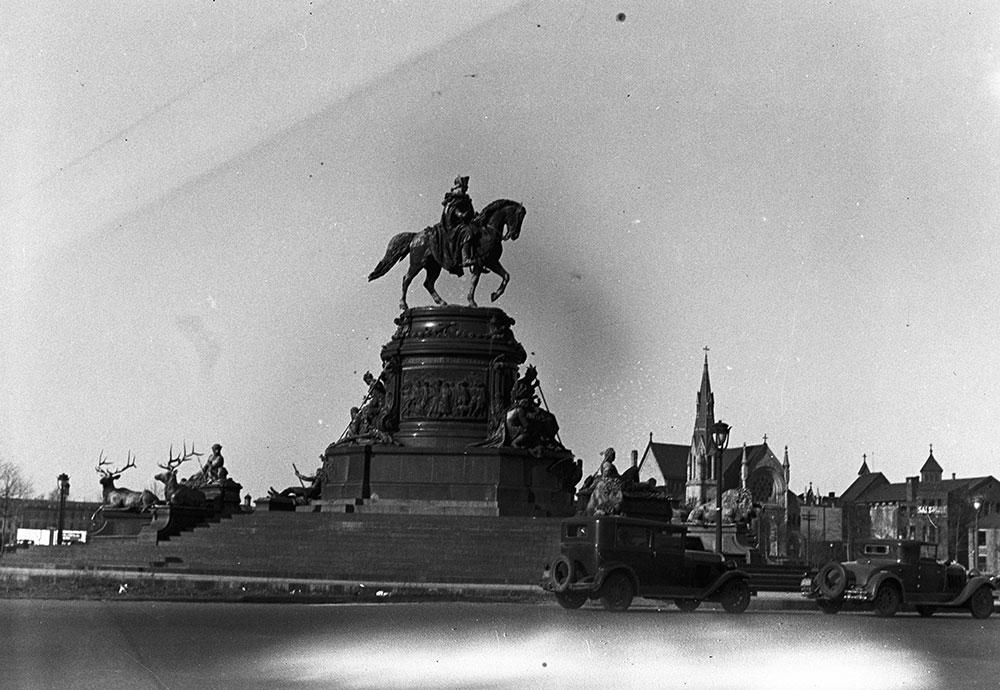 Washington Monument fountain