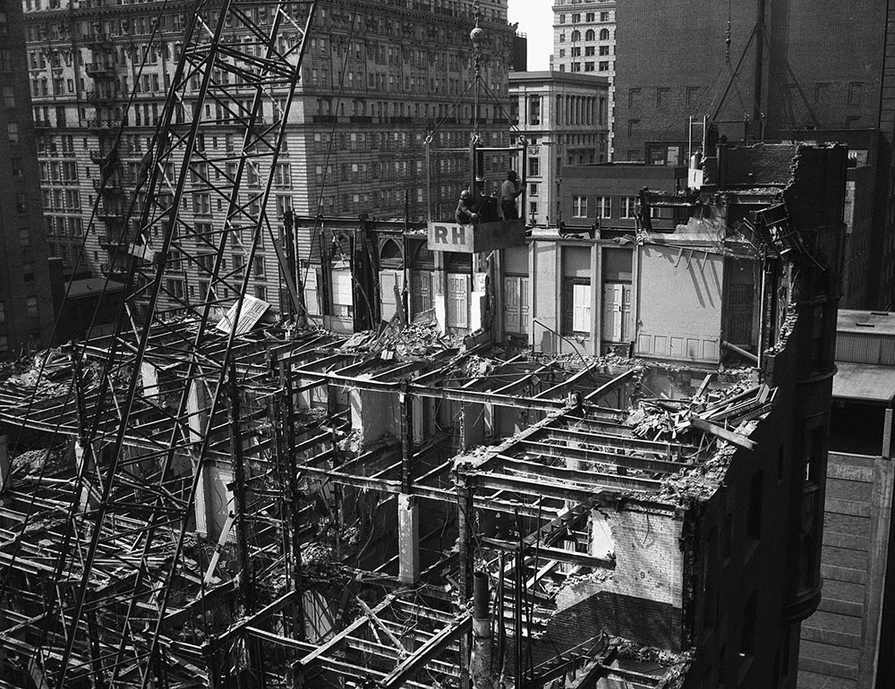 Building Demolition Scene