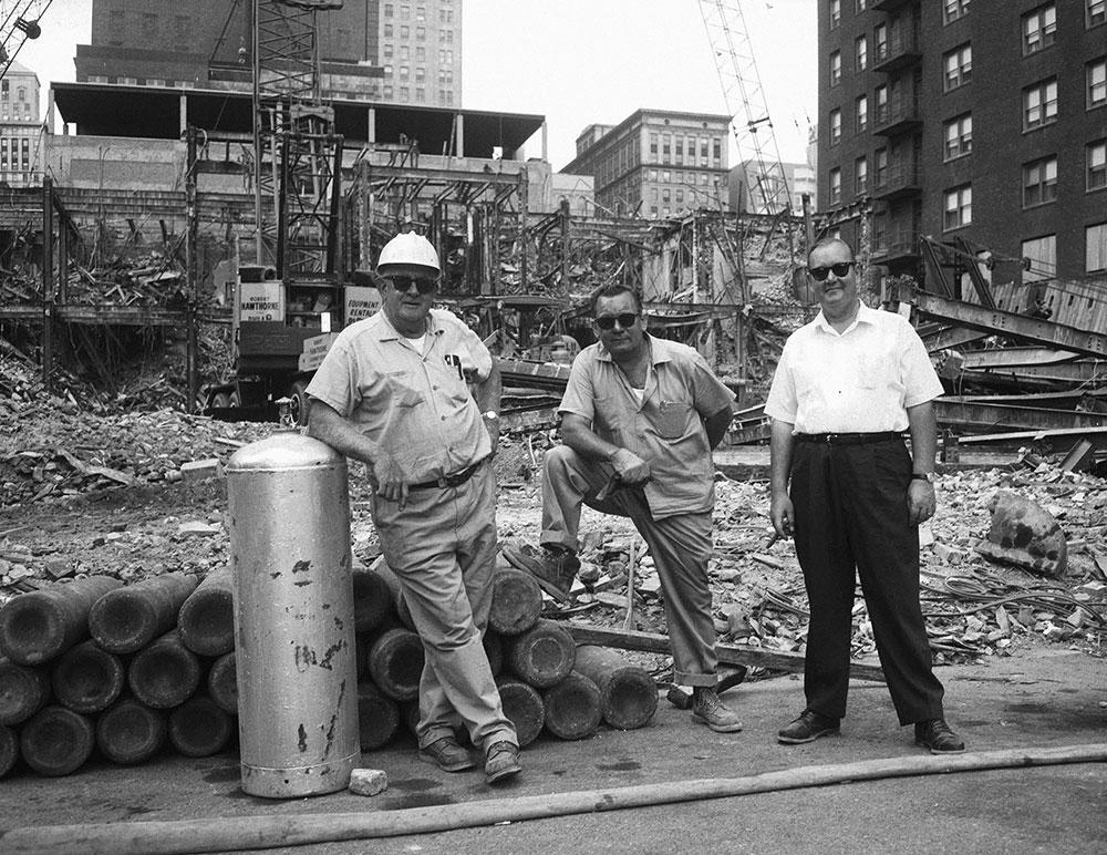 Bartram Hotel, Demolition Site with Workers