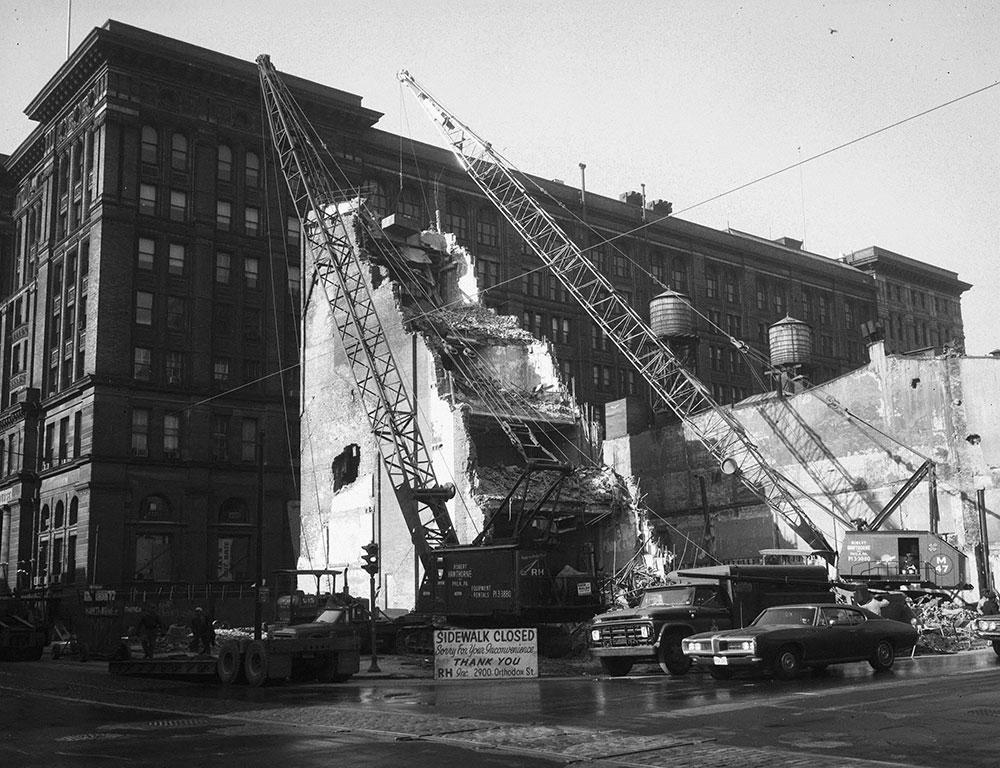 Building Demolition, 5th & Market