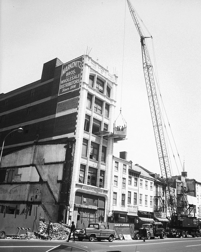 Demolition Site with  Workers, 4th, 5th, & Market Streets