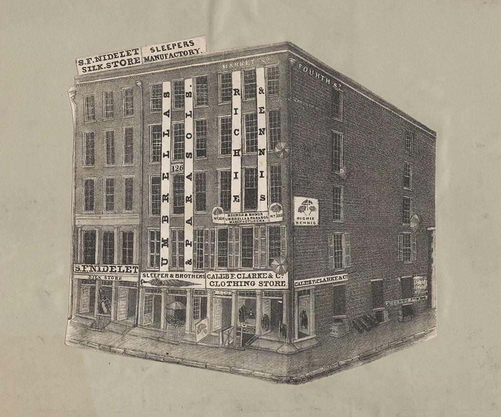 [Storefronts on Market Street, 300 block, south side, Philadelphia] [graphic].