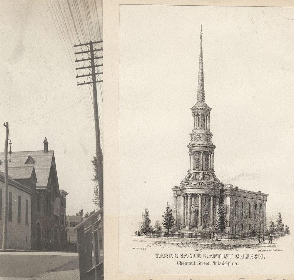 Tabernacle Baptist Church, Chestnut Street, Philadelphia. [graphic] / Jas. Queen, delt.