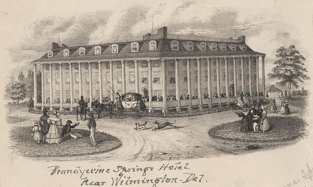 Brandywine Springs Hotel near Wilmington Del. [graphic] / Clay fecit 1830.