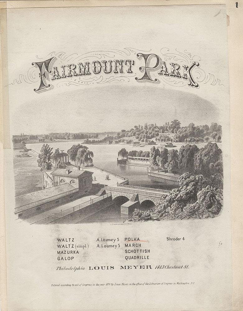 Fairmount Park [graphic] / G.S. Harris & Son lith. Phila.