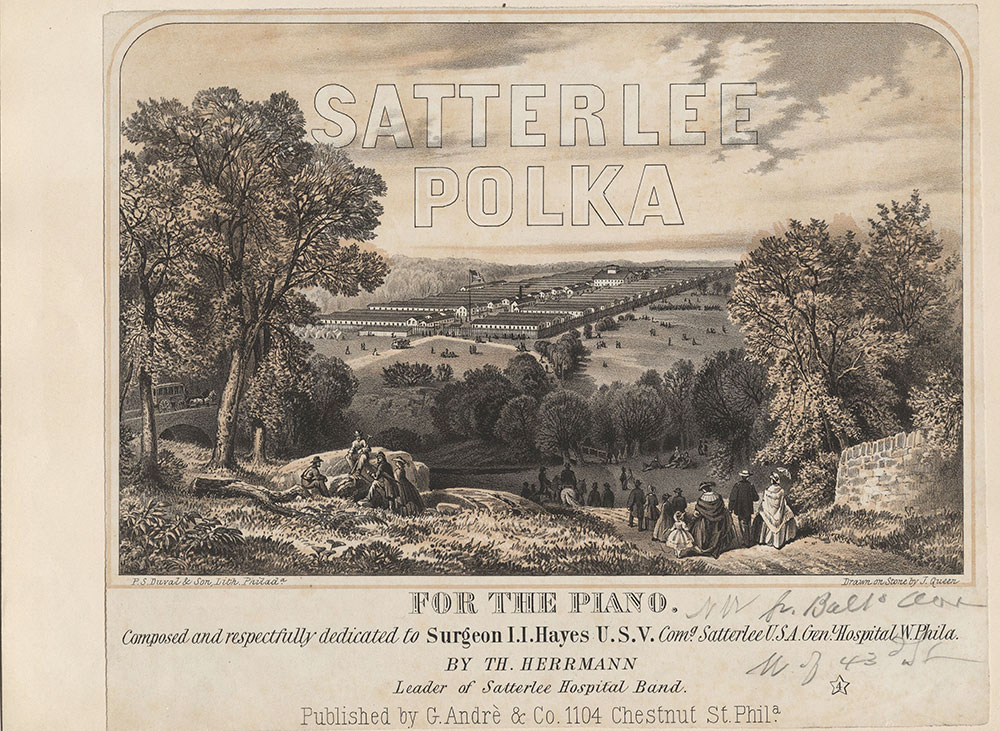 Satterlee Polka for the piano. Composed and respectfully dedicated to Surgeon I.I. Hayes U.S.V. Comg. Satterlee U.S.A. Genl. Hospital W. Phila. [graphic]