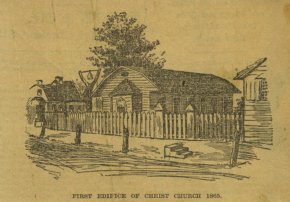 First Edifice of Christ Church 1865