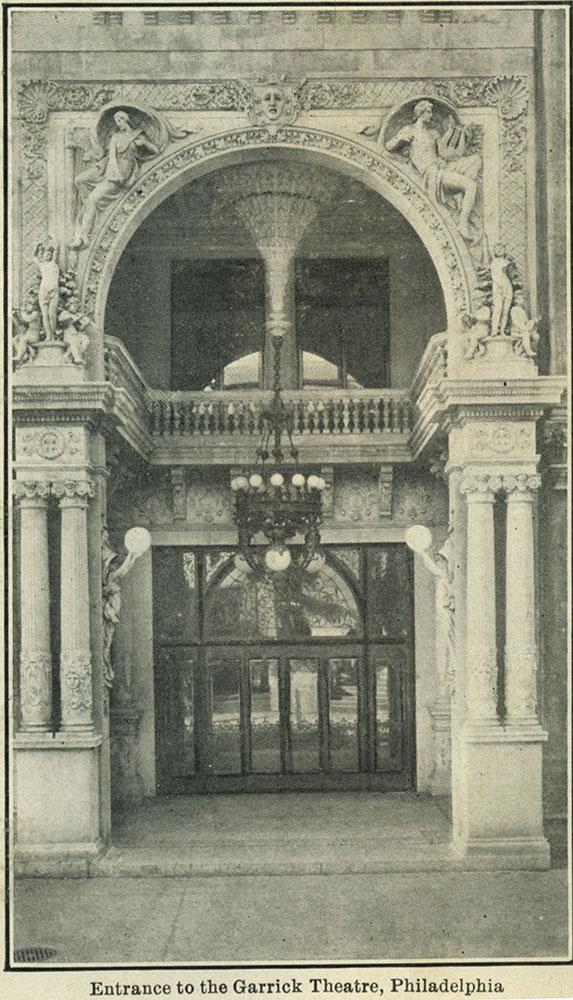 Entrance to the Garrick Theatre, Philadelphia