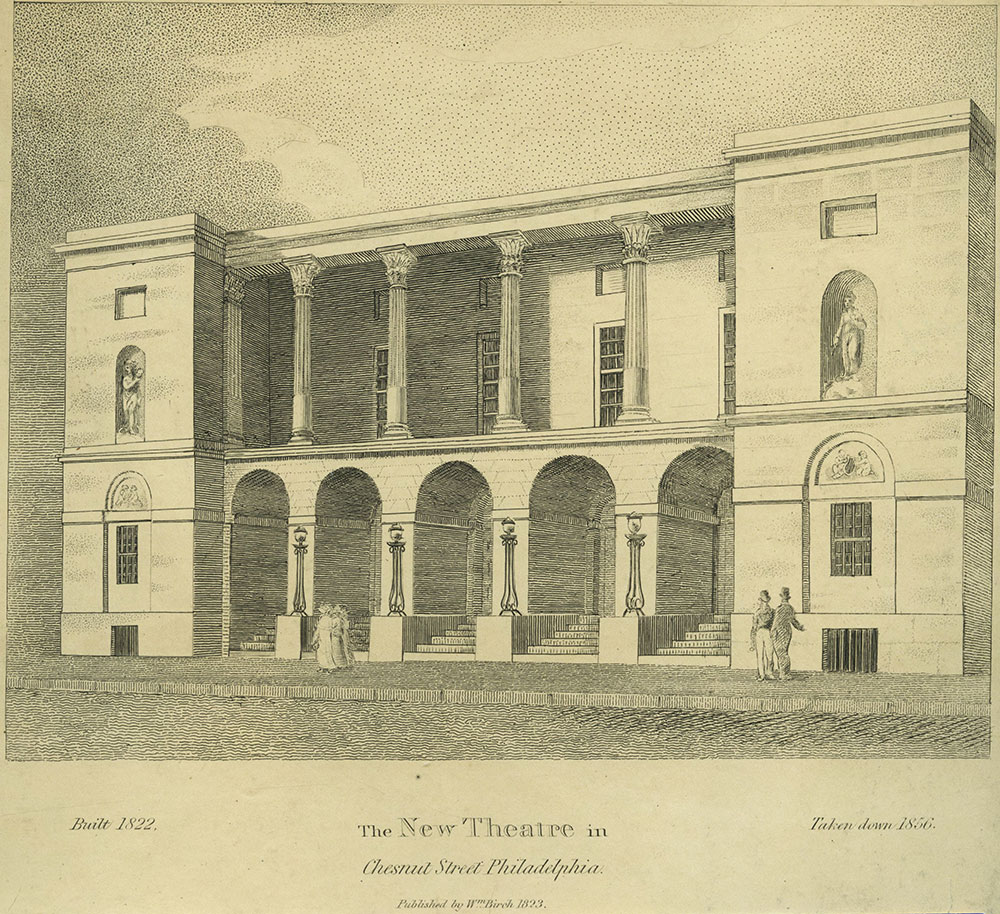 The New Theatre in Chestnut Street, Philadelphia.
