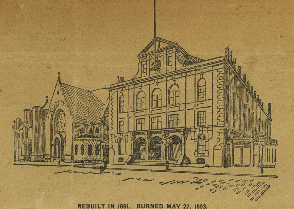 Rebuilt in 1881. Burned May 27, 1893