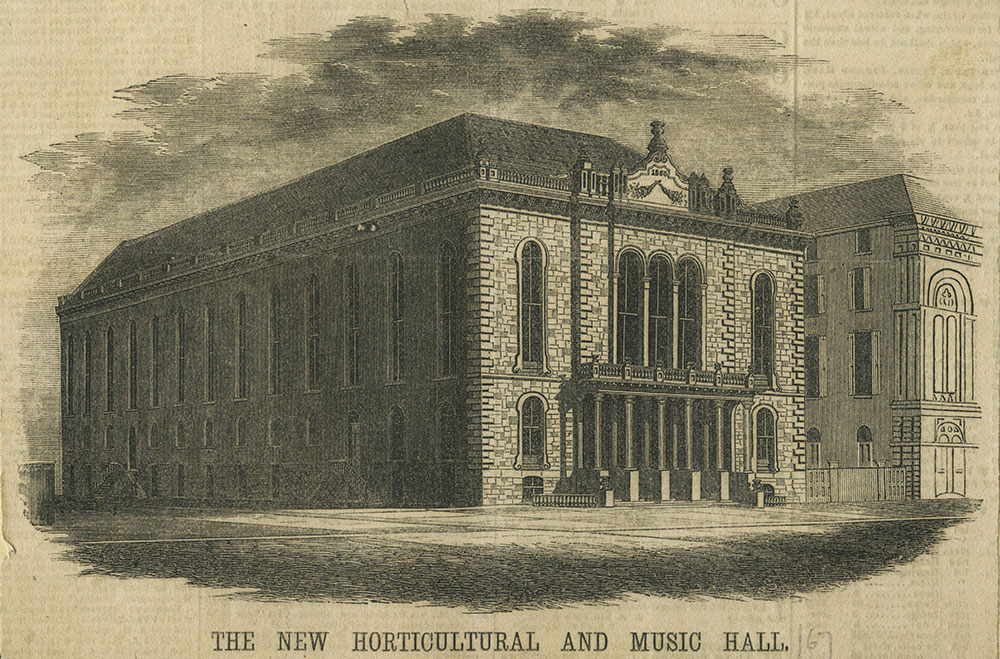 The New Horticultural and Music Hall.