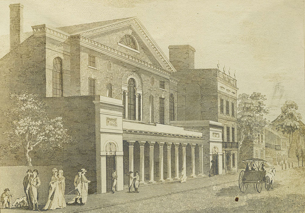 The late Theatre in Chestnut Street Philadelphia