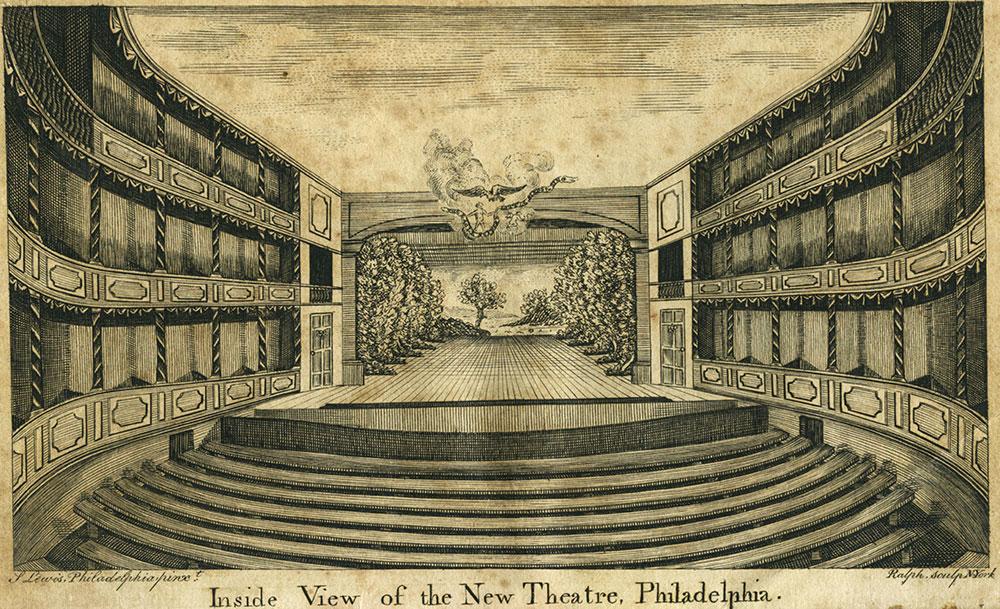 Inside View of the New Theatre, Philadelphia
