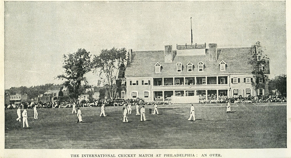The International Cricket Match at Philadelphia : An Over