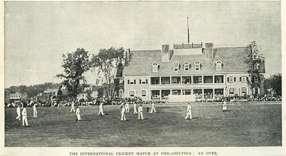 The International Cricket Match at Philadelphia : An Over