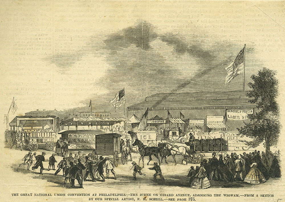The Great National Union Convention at Philadelphia