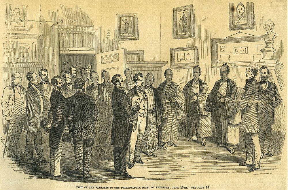 Visit of the Japanese to the Philadelphia Mint, on Thursday, June 13th.