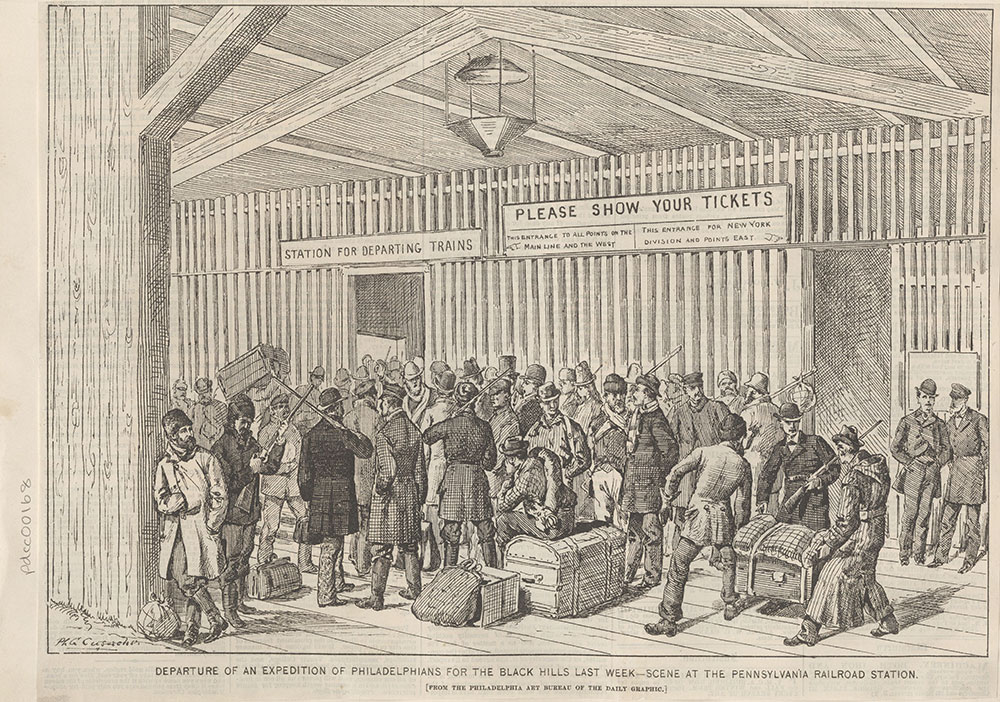 Departure of an expedition of Philadelphians for the Black Hills last week