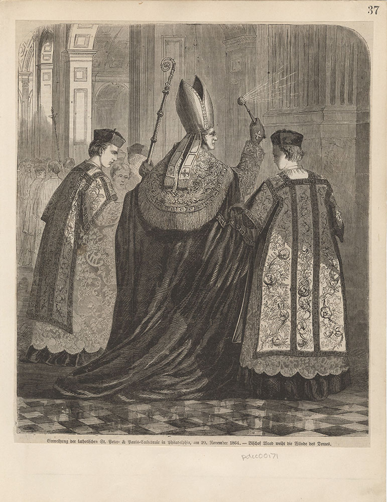Dedication of the Catholic Sts. Peter and Paul Cathedral in Philadelphia on the 20th. of November 1864