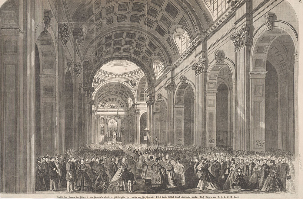 Interior View of the Cathedral of Saints Peter & Paul in Philadelphia, Pa., November 20th. 1864