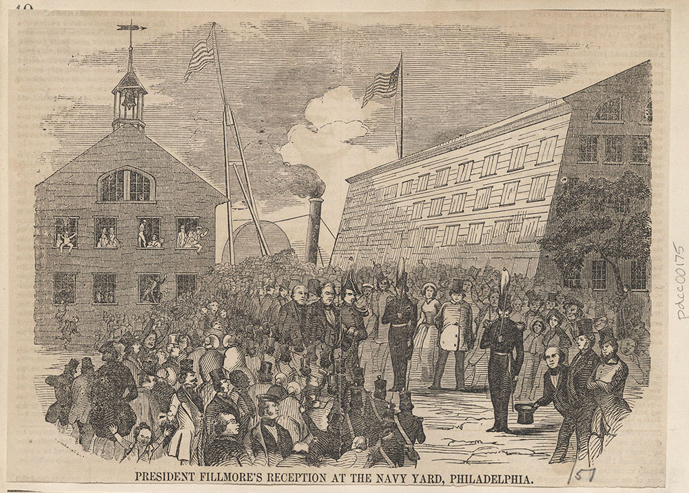 President Fillmore's Reception at the Navy Yard, Philadelphia.