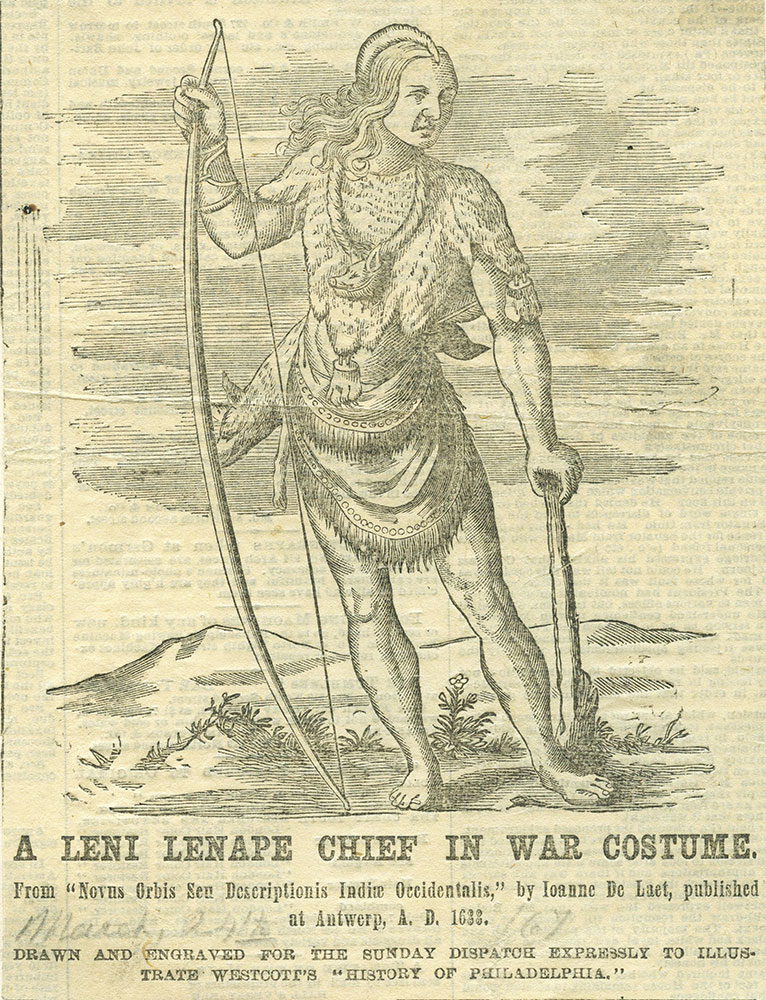 A Leni Lenape Chief in War Costume.
