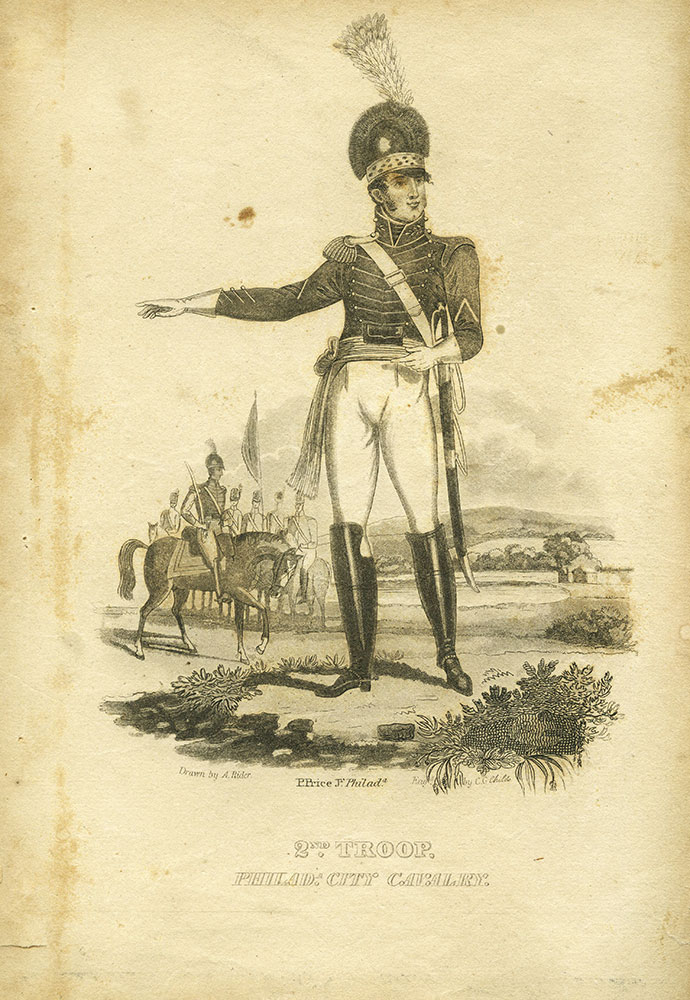2nd. troop. Philadelphia City Cavalry.