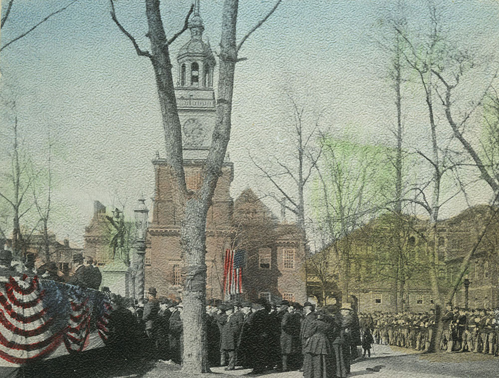 Unveiling of the Commodore John Barry Statue, Independence Square, March 16th., 1907