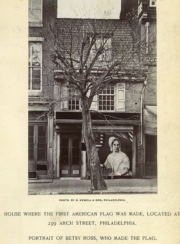 House where the first American flag was made, located at 239 Arch Street, Philadelphia