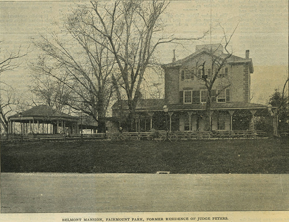 Belmont Mansion, Fairmount Park, Former Residence of Judge Peters.