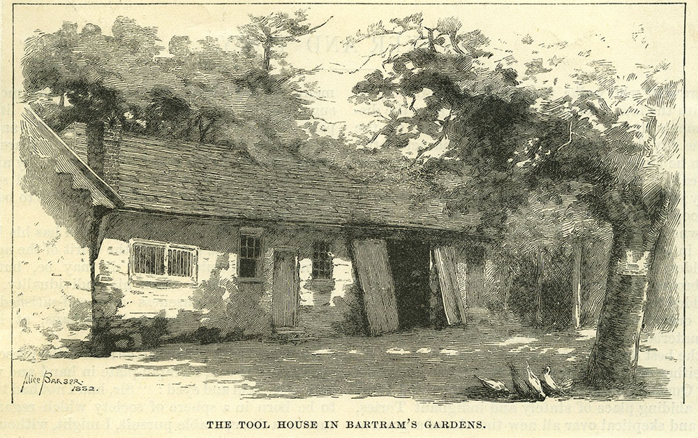 The Tool House in Bartram's Gardens.