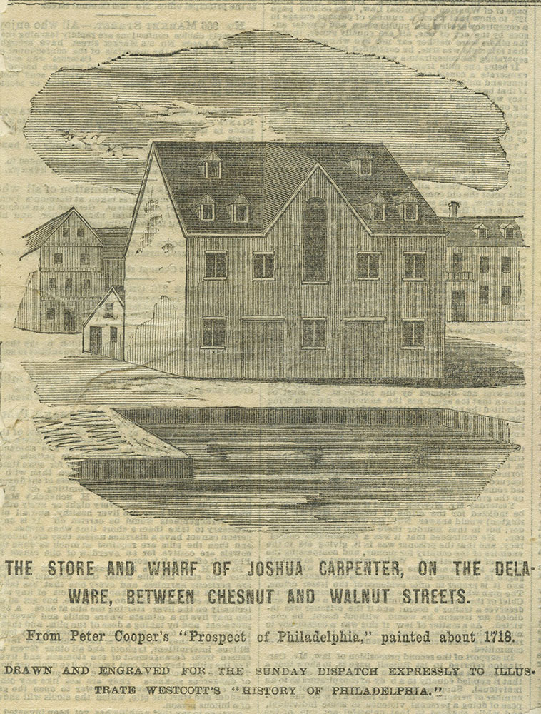 The store and wharf of Joshua Carpenter.