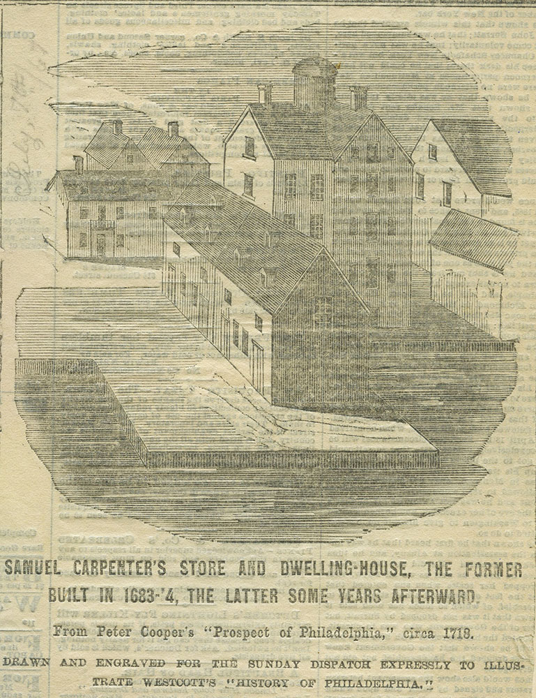 Samuel Carpenter's store and dwelling-house.