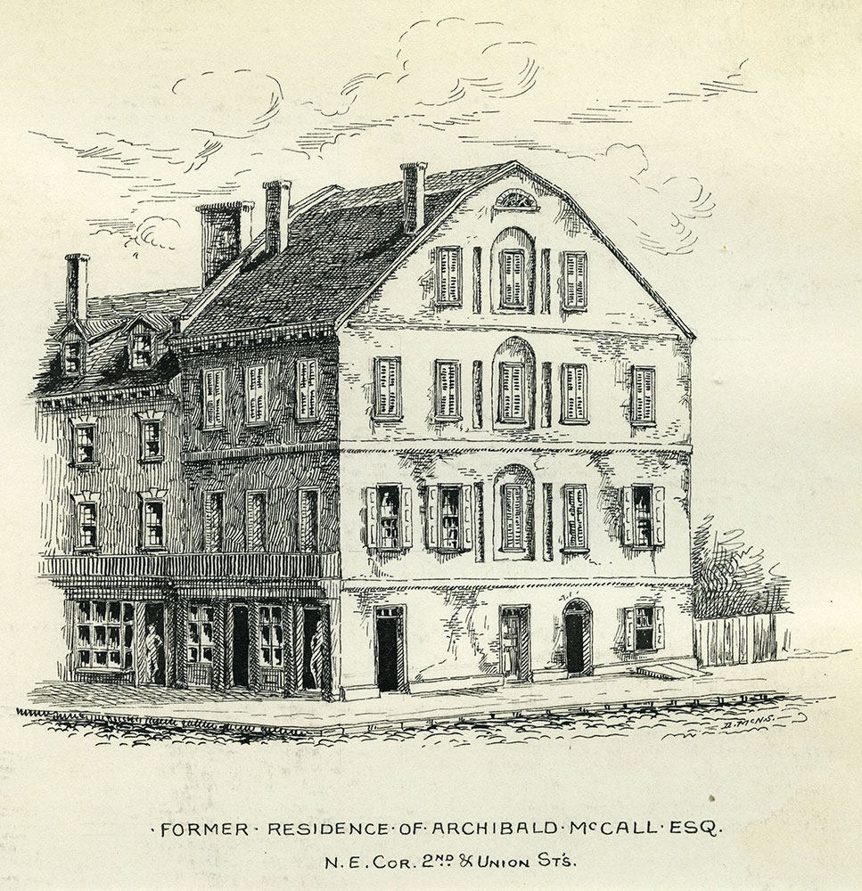 Former residence of Archibald McCall
