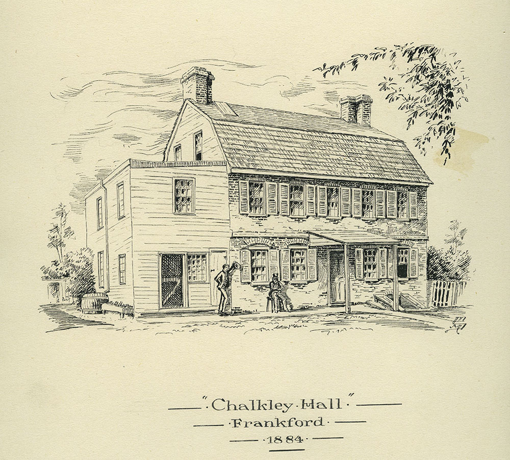 Chalkley Hall. Frankford. 1884.