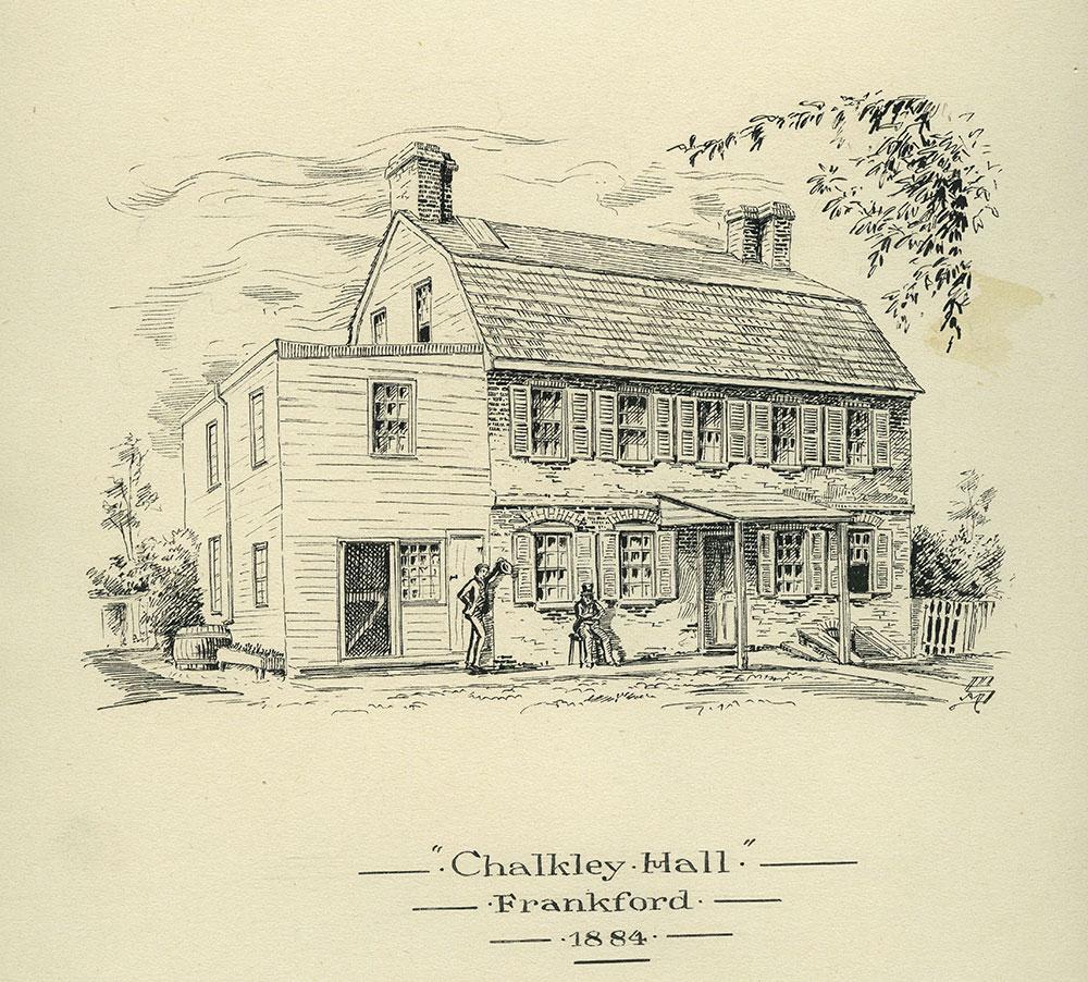 Chalkley Hall. Frankford. 1884.