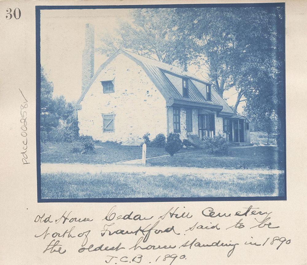 Old House-Cedar Hill Cemetery-North of Frankford.
