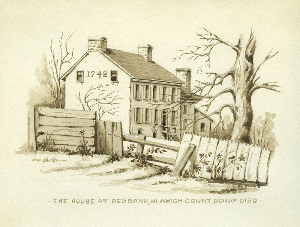 The house at Red Bank, in which Count Donop died.