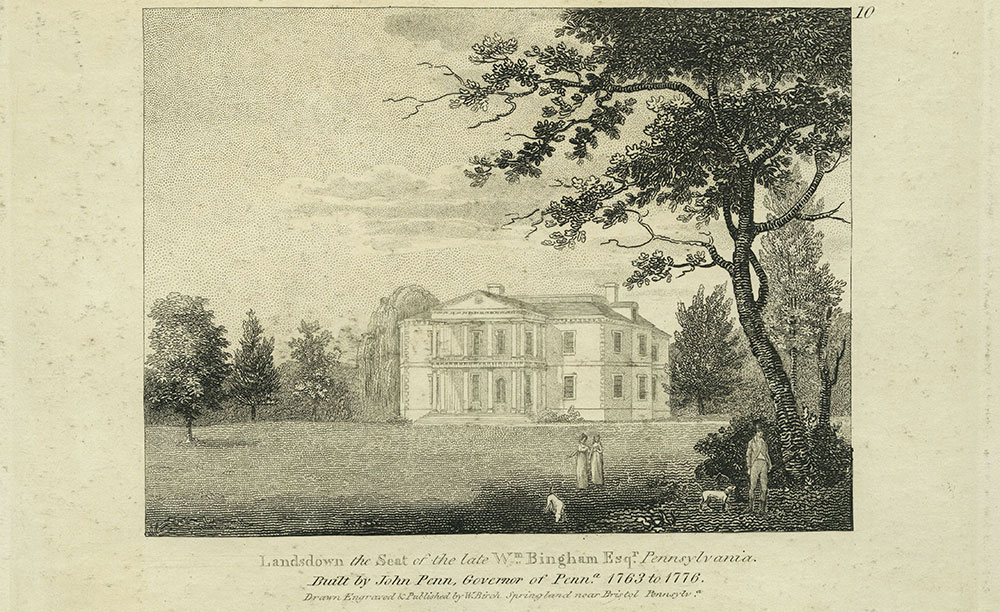 Lansdown the seat of the late Wm. Bingham Esqr. Pennsylvania.