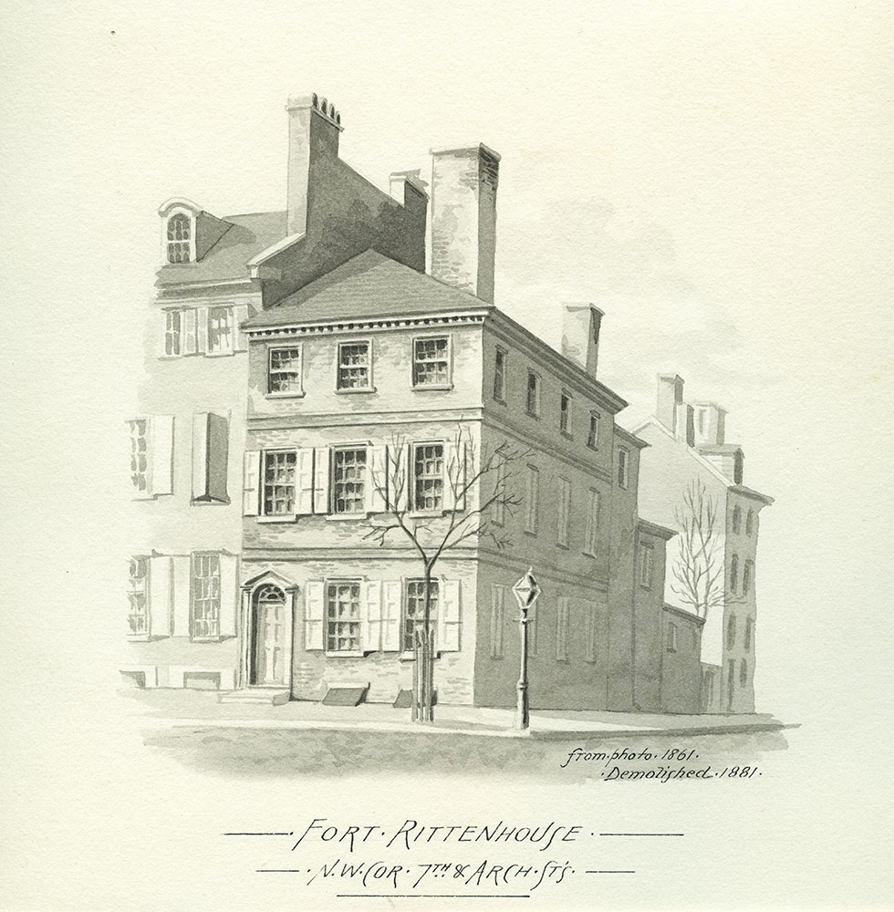 Fort Rittenhouse. N.W. Corner 7th. & Arch Sts.