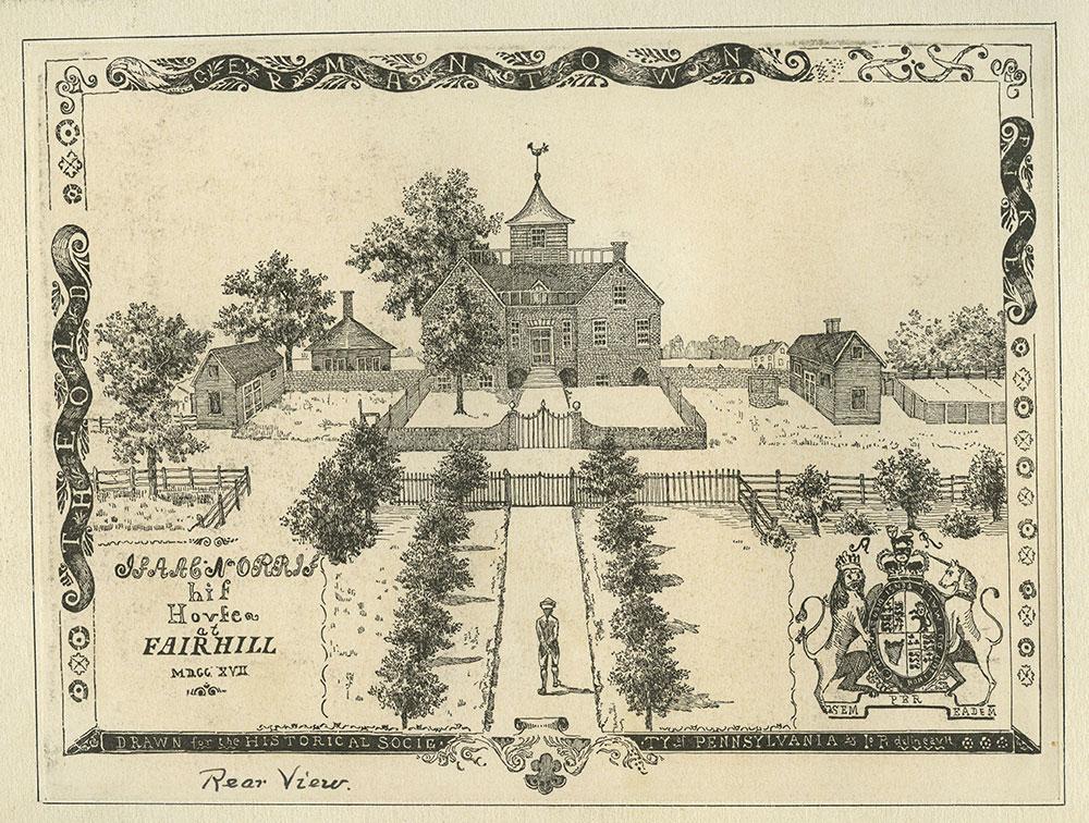 Isaac Norris, His house at Fair Hill.