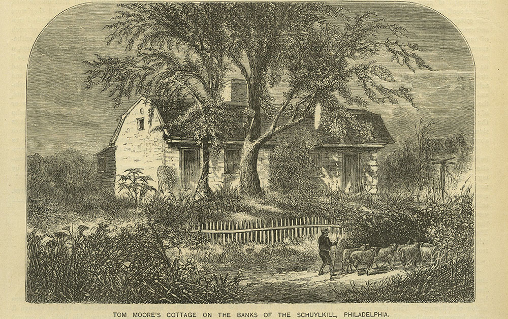 Tom Moore's Cottage on the Banks of the Schuylkill, Philadelphia.