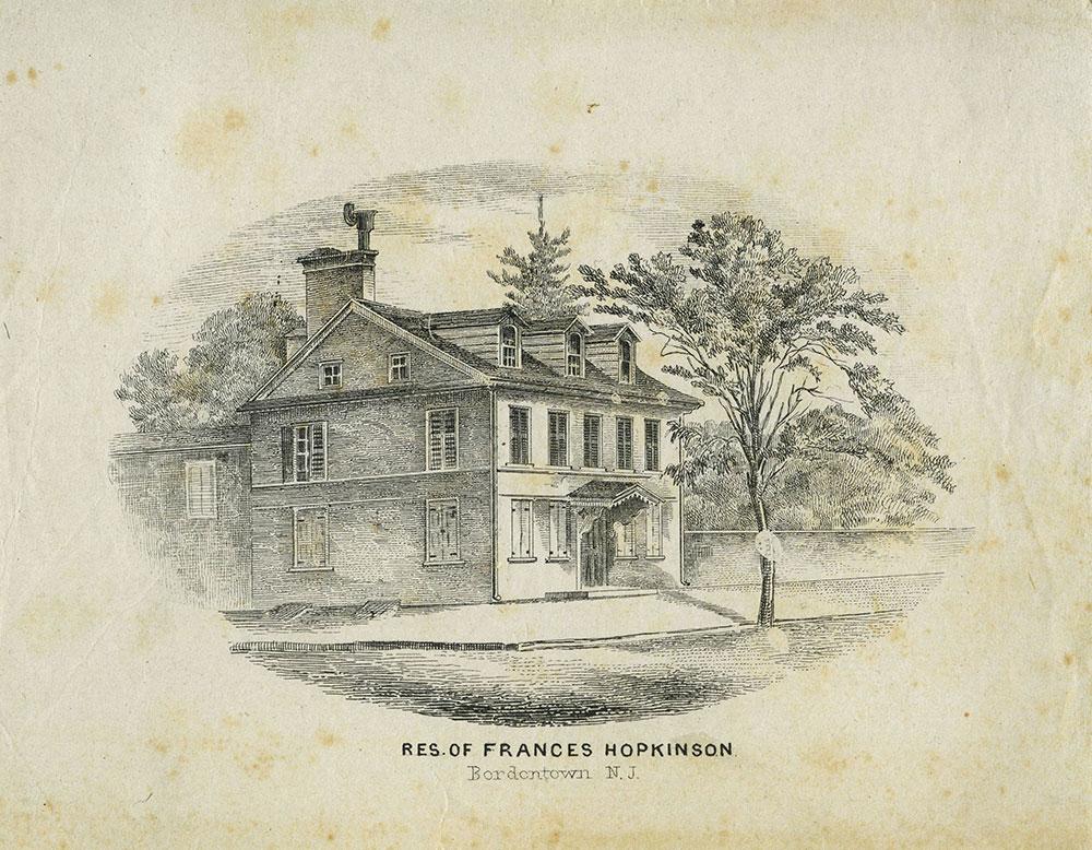 Residence of Frances Hopkinson.