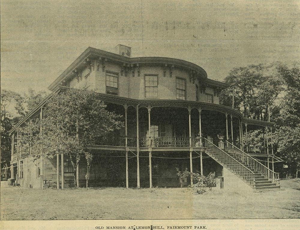 Old Mansion at Lemon Hill, Fairmount Park.